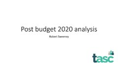 Post budget 2020 analysis