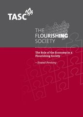 Publication cover - Flourishing Society -The Role of the Economy