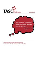 Publication cover - Social Enterprise – An overlooked approach to prom