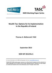Publication cover - TASC NERI Wealth Tax Tom McDonnell