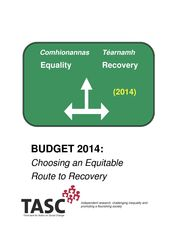Publication cover - Choosing an Equitable Route to Recovery