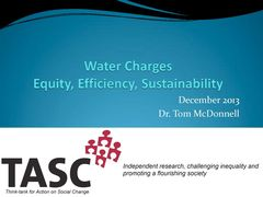 Publication cover - Water Charges Presentation (Dec 2013)