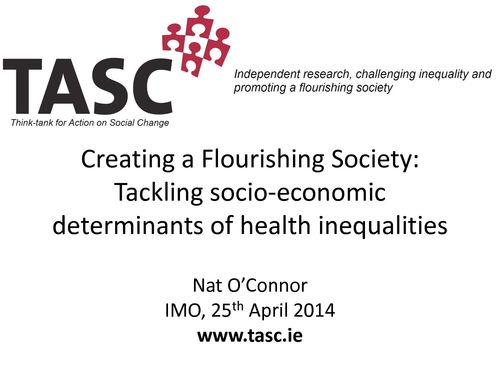 Publication cover - Nat O'Connor IMO Economic Equality