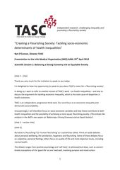 Publication cover - TASC Creating a Flourishing Society IMO April 2014