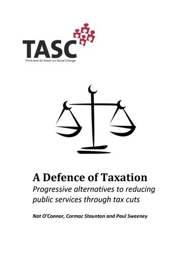 Publication cover - TASC A Defence of Taxation