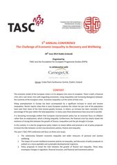 Publication cover - TASC conference programme (20 June 2014)