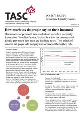 Publication cover - TASC How much tax do people pay on their incomes