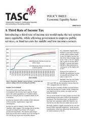 Publication cover - TASC Third rate tax brief
