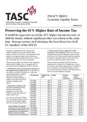 Publication cover - TASC Preserving the 41 Per Cent Tax Rate