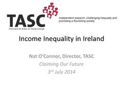 Publication cover - TASC Income Inequality in Ireland COF July 2014