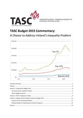 Publication cover - TASC Budget 2015 Commentary FINAL