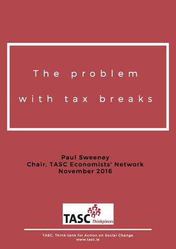 Publication cover - TheProblemwithTaxBreaks