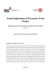Publication cover - mapping precarious work in ireland