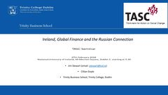 Publication cover - Ireland, Global Finance and the Russian Connection