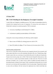 Publication cover - TASC Brief Budgetary Oversight Committee June 2018