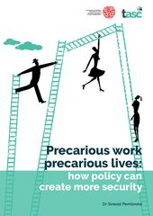 Publication cover - Precarious Work Precarious Lives: How Policy Can Create More Security